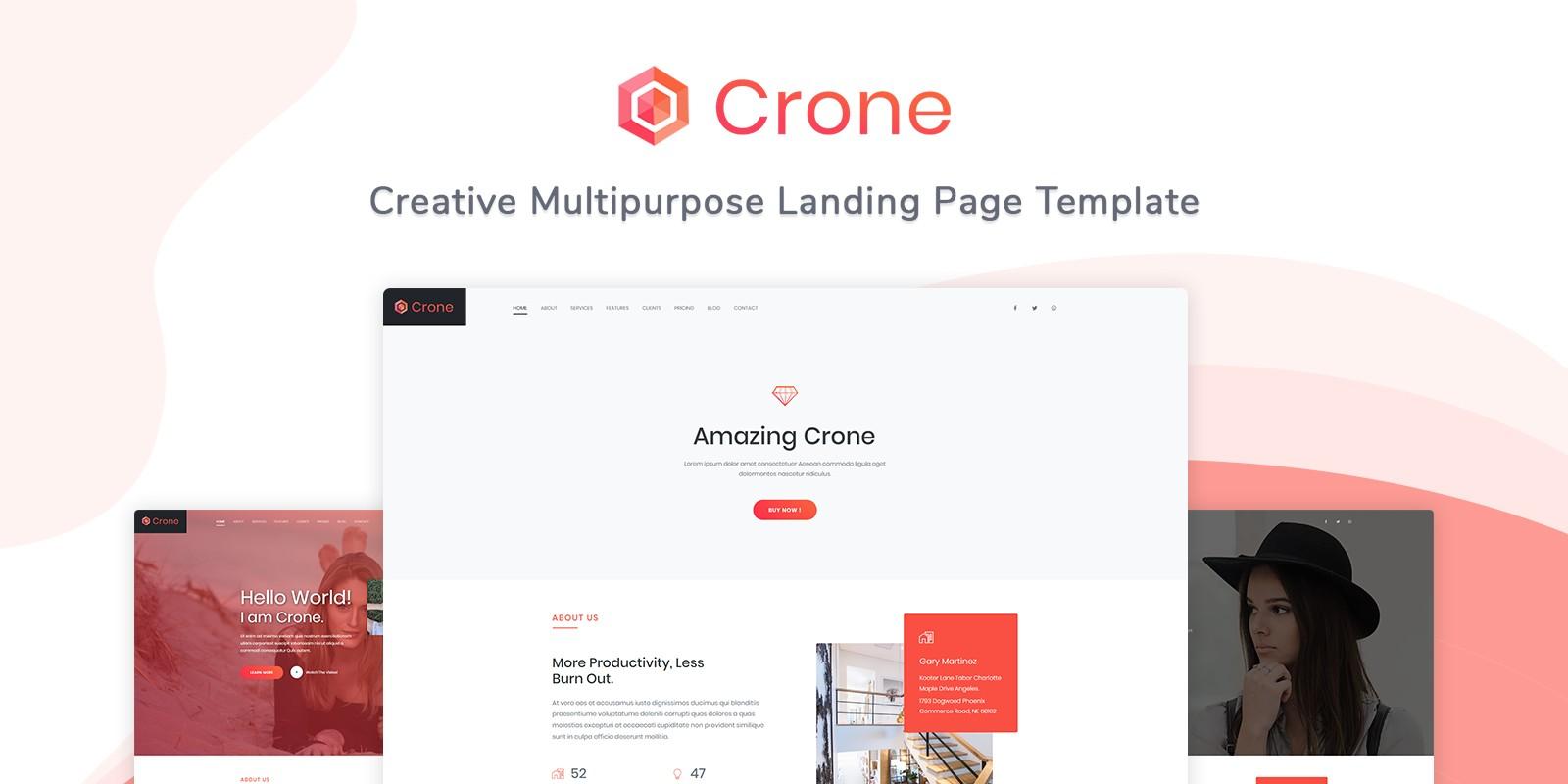 Crone - Creative Multipurpose Landing Page Templat