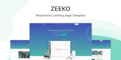 Zeeko - Landing Page Template