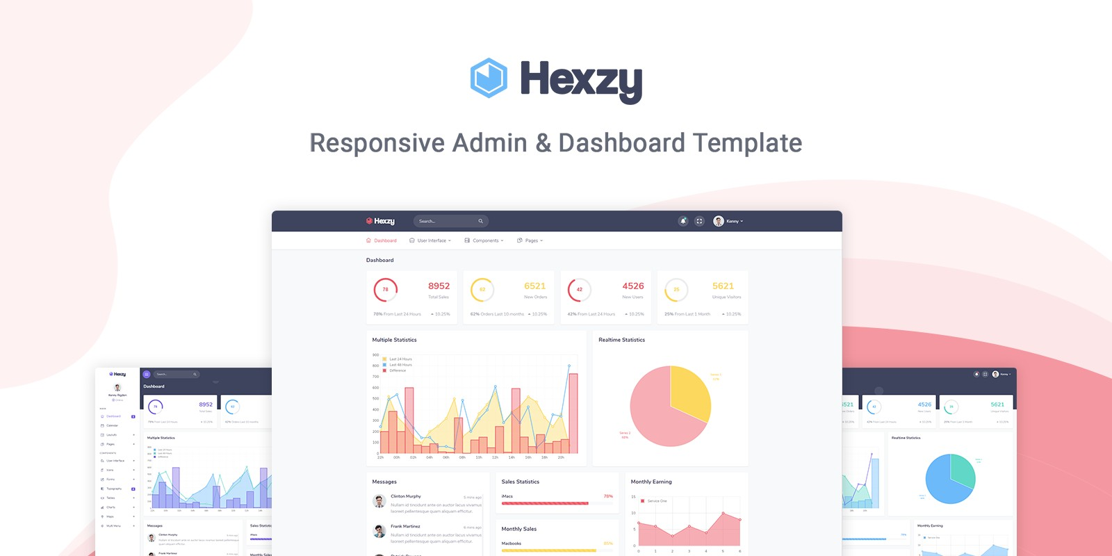 Hexzy - Admin And Dashboard Template