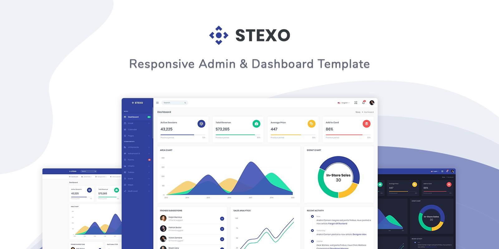 Stexo - Admin And Dashboard Template