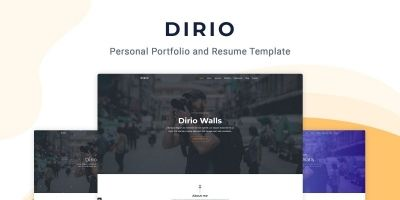 Dirio - Personal Portfolio And Resume Template