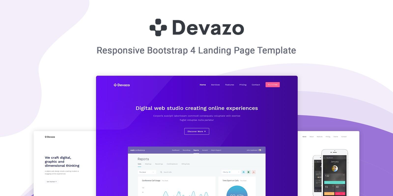 Devazo - Landing Page Template