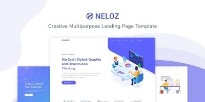 Neloz - Landing Page Template