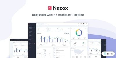 Nazox - React Admin And Dashboard Template