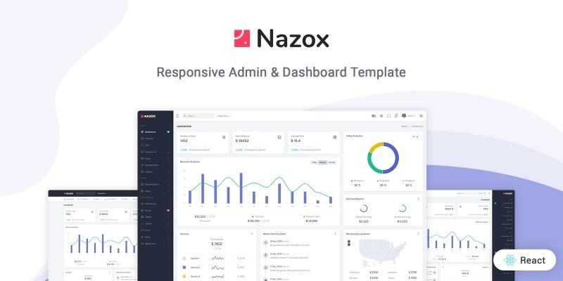 Nazox - React Admin And Dashboard Template