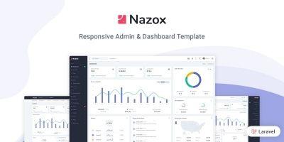 Nazox - Laravel Admin And Dashboard Template