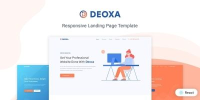 Deoxa - React Landing Page Template