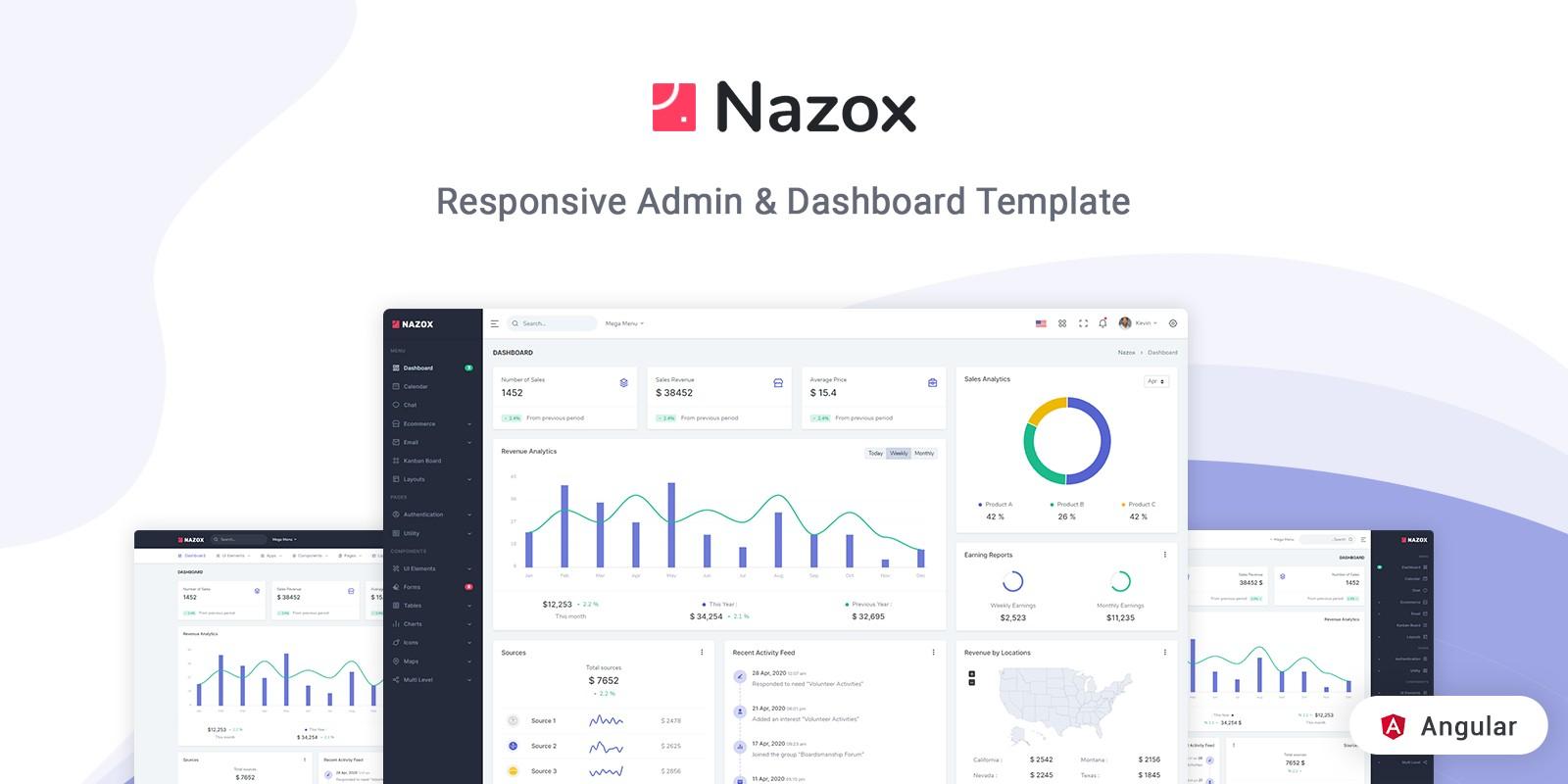 Nazox - Angular 10 Admin And Dashboard Template