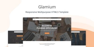 Glamium - One Page Multipurpose HTML5 Template