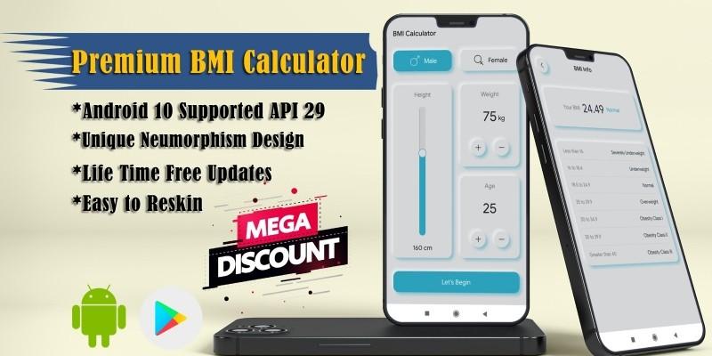 Premium BMI Calculator - Android Source Code