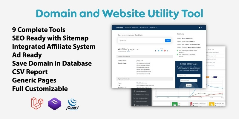 Domain And Website Utility Tool