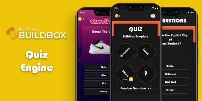 Quiz Engine - Buildbox 3 Trivia Quiz Template