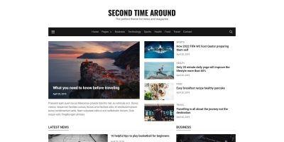 Second Time Around - HTML5 Magazine Template