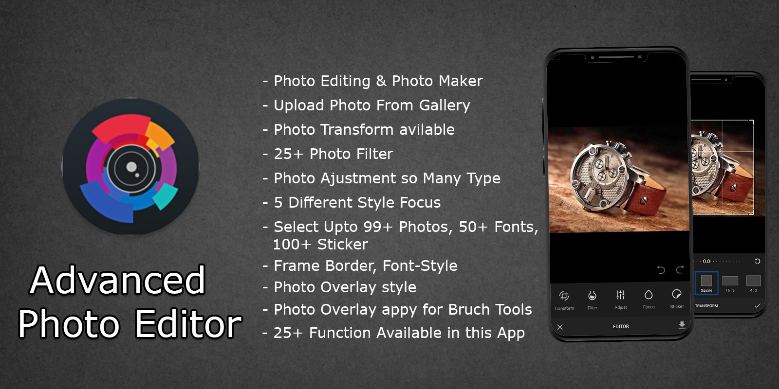 Advanced Photo Editing Android App