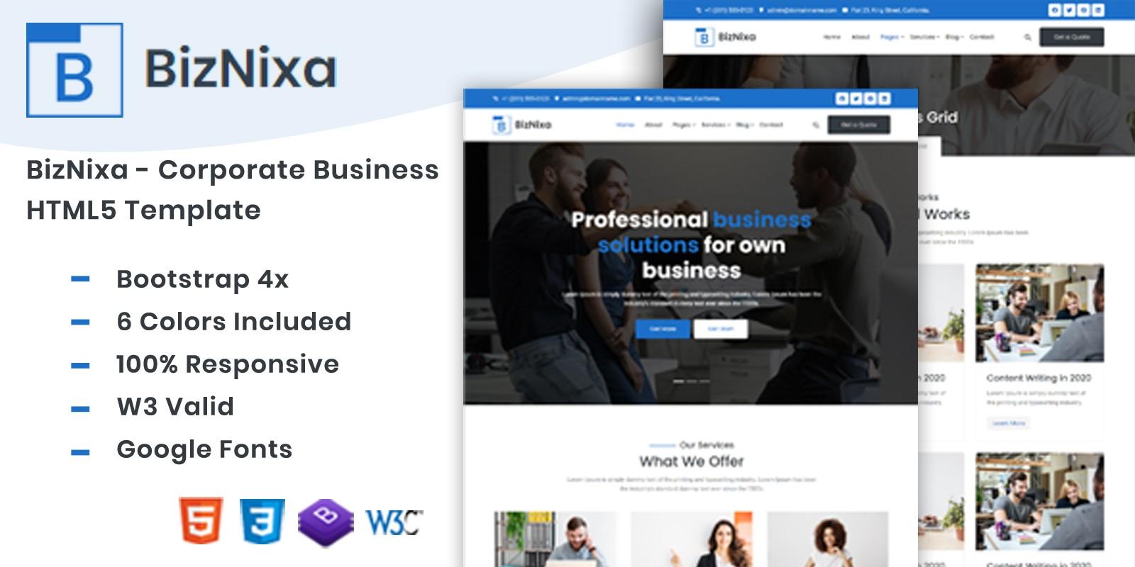 BizNixa - Corporate Business HTML5 Template