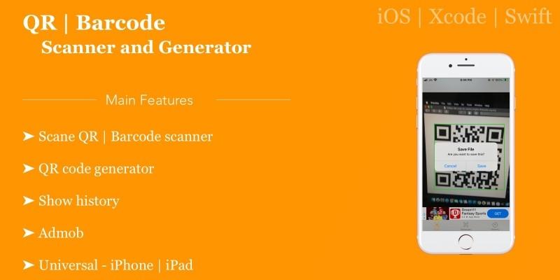 Barcode QR code scanner - iOS App Source Code