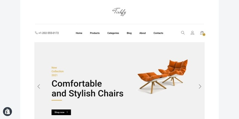 Tishfy - Furniture Shopify Theme