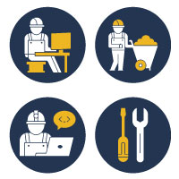 300 Architecture And engineering Vector Icons