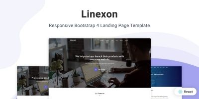 Linexon - React Landing Page Template