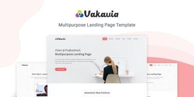Vakavia - Multipurpose Landing Page Template