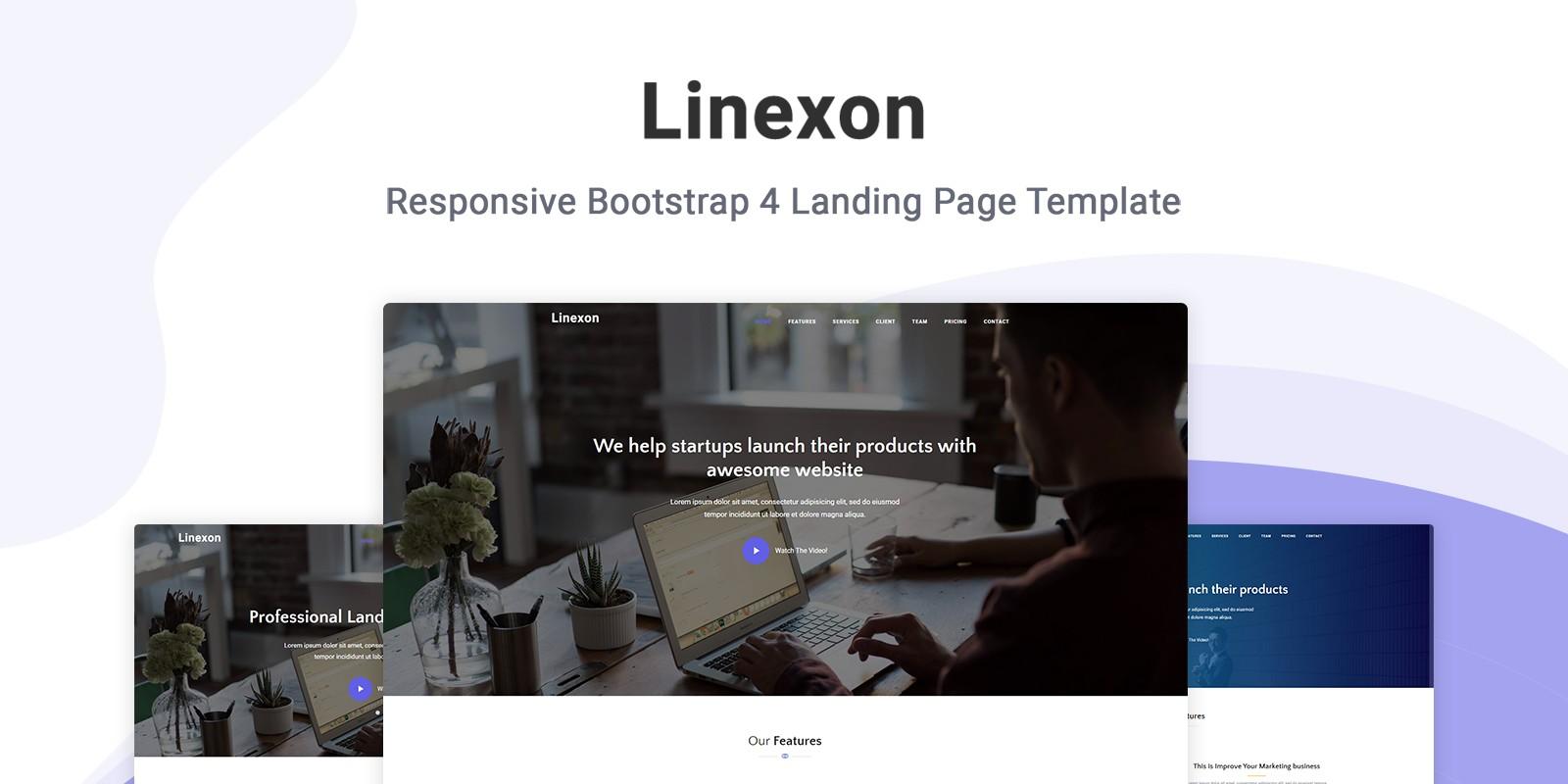 Linexon - Landing Page Template