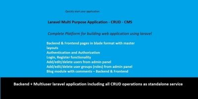 Laravel GUI CRUD Builder Starter Kit
