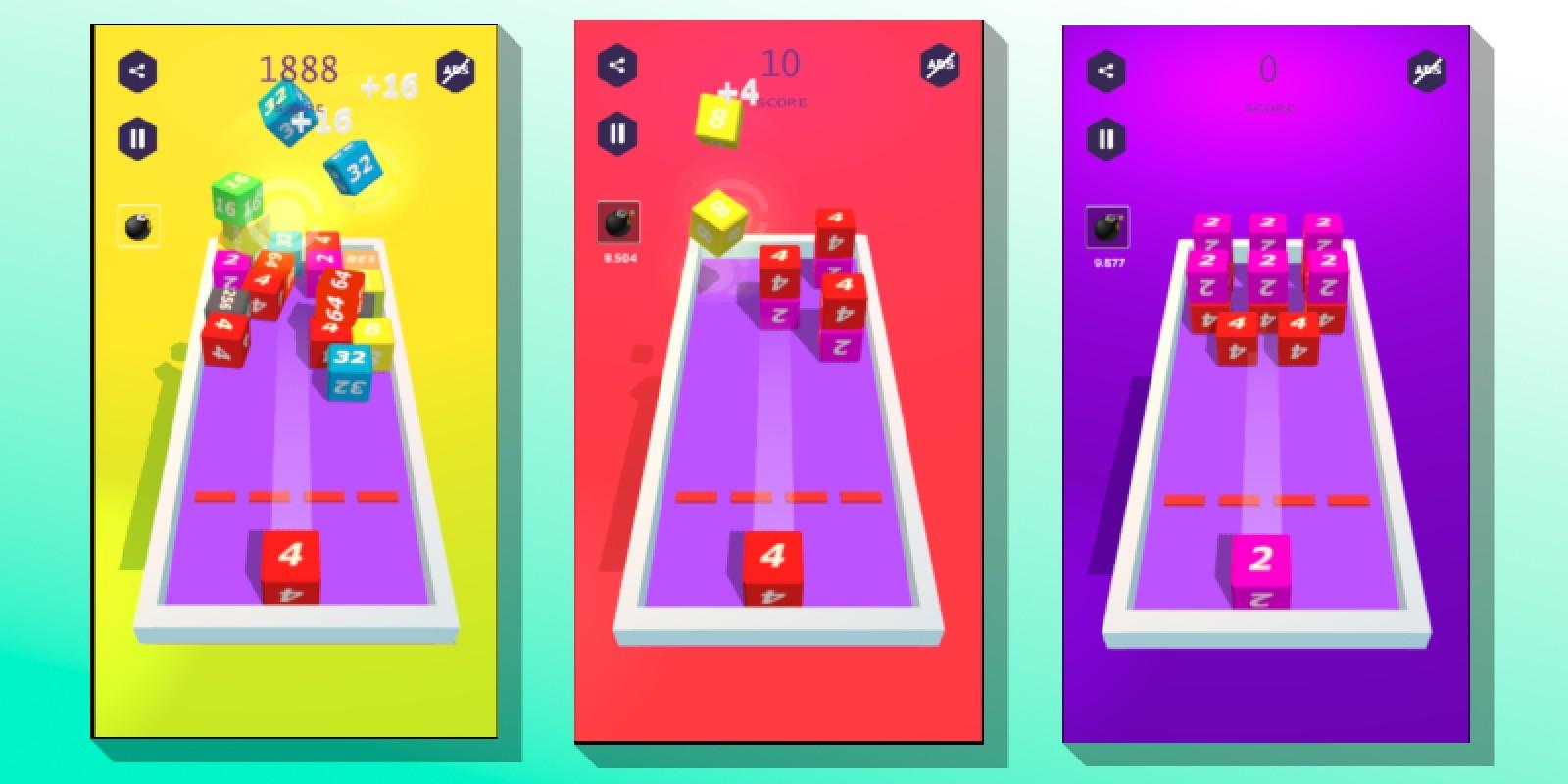 Cube 2048 - Buildbox Game