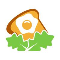 Breakfast Fast Food Delivery Logo