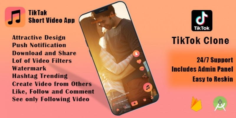 TikTak - Short Video App - TikTok Clone Android