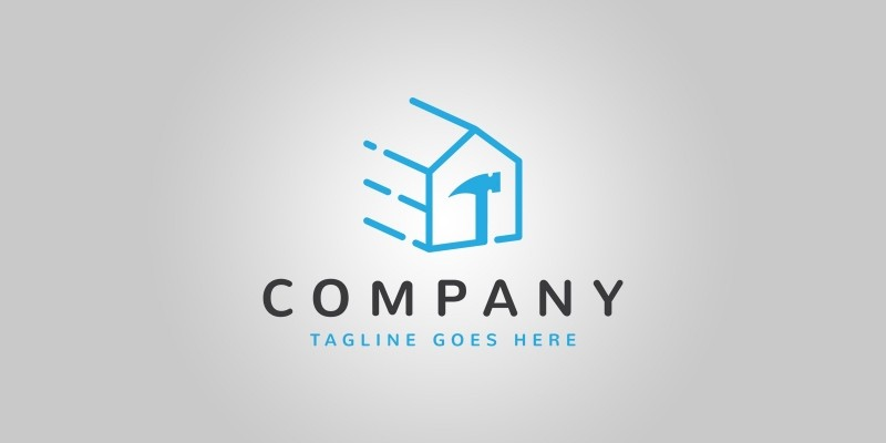Fast House Repair Logo Template