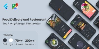 Flutter Food - Restaurant Food Delivery UI Kit