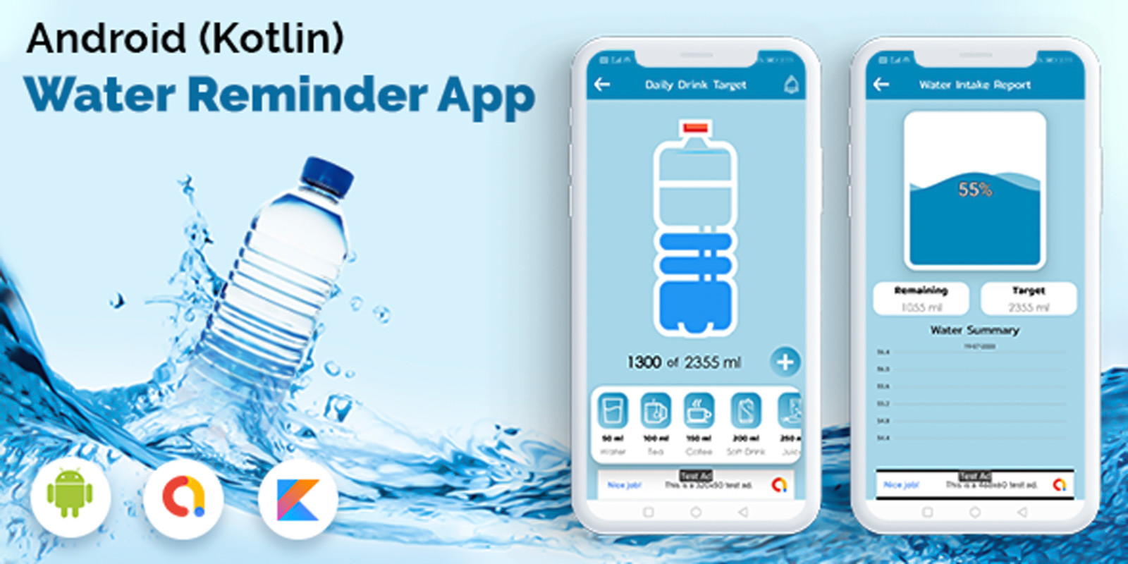 Android Kotlin Drink Water Reminder