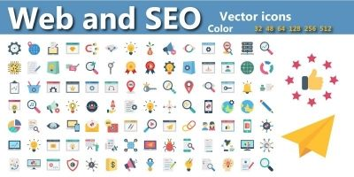 Web And Seo Vector Icons pack