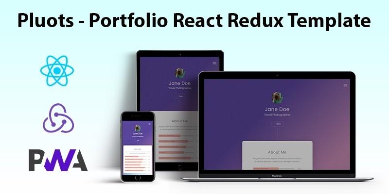 Pluots Portfolio React Redux Template