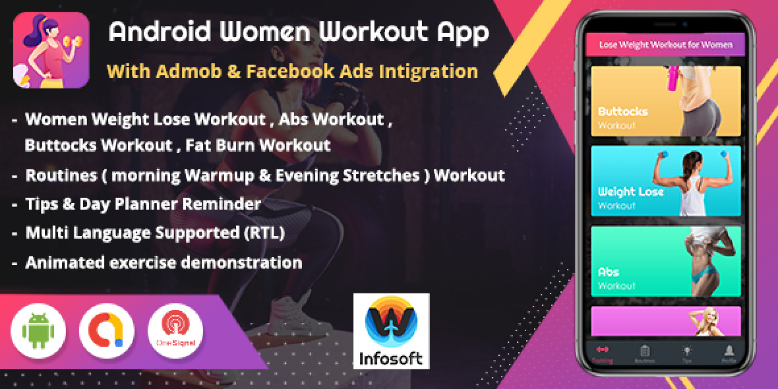 Android Women Workout at Home App Template