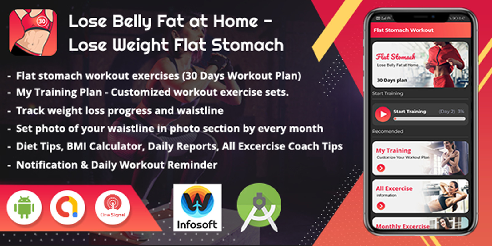 Android Lose Weight Flat Stomach Workout App