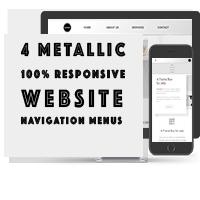 Responsive Metallic Navbar Menus CSS