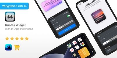 Quotes Widget - iOS 14 App With In-App Purchases