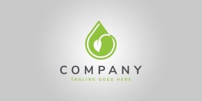 Eco Drop Logo Template