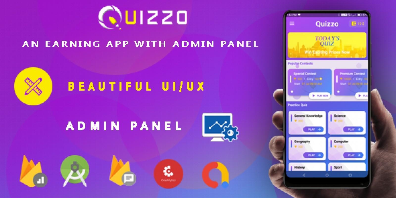 Quiz App - Android UI UX Design Template