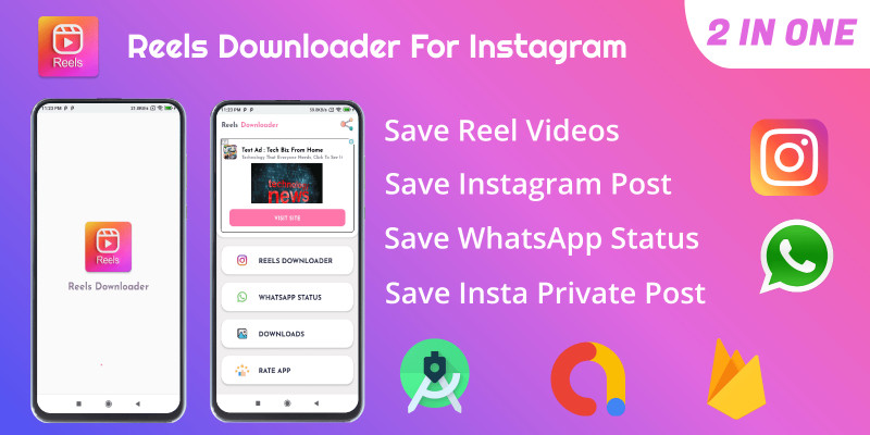 Reels Downloader For Instagram - Android Template