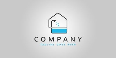 Bathtub House Logo Template