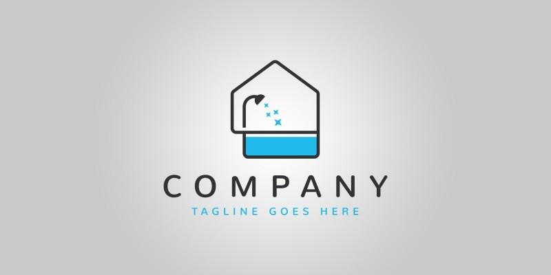 Bathtub House Logo Template