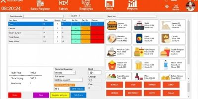 Restaurant Point Of Sale System .NET
