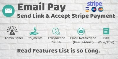 EmailPay - Send Link And Accept Stripe Payment