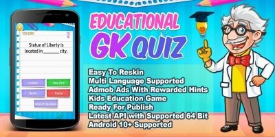 Educational GK Quiz - Android Source Code