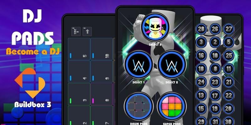 DJ Pads - Become A DJ Buildbox 3 Template