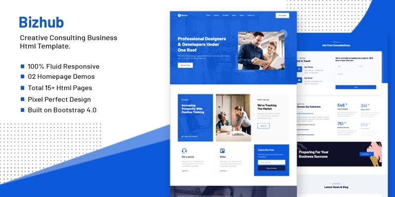 Bizhub - Consulting Business HTML Template