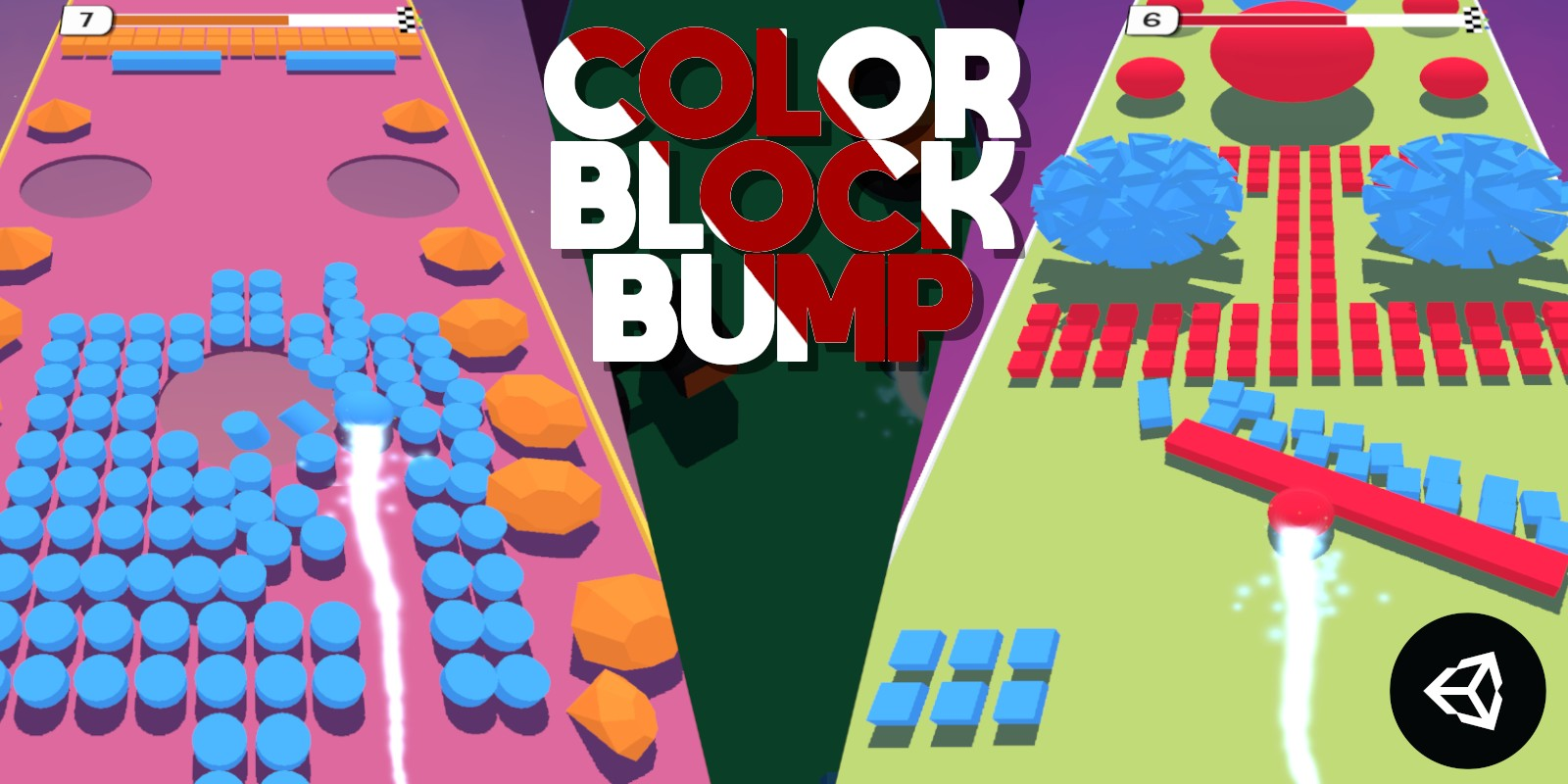 Color Block Bump   Unity Casual Project With Admob Ad For Android and iOS