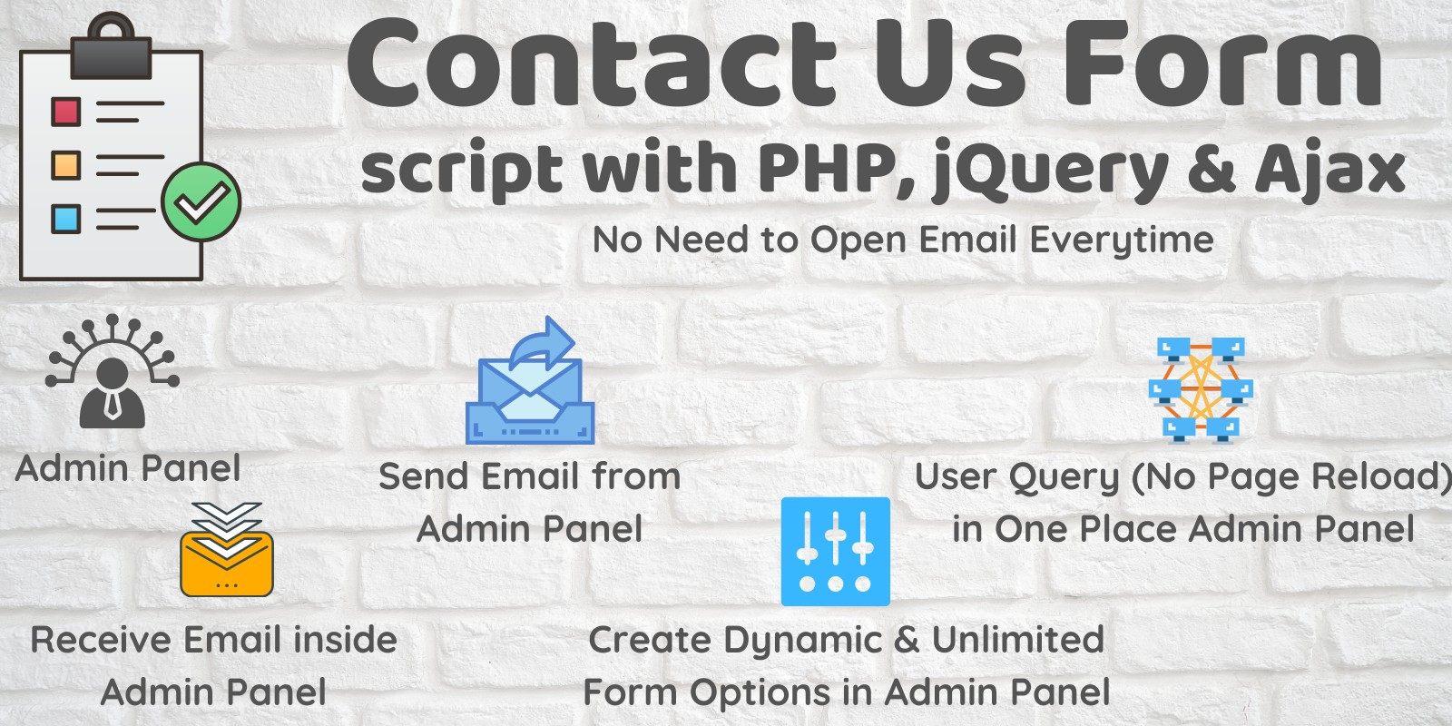 Contact Us Form with Admin Panel